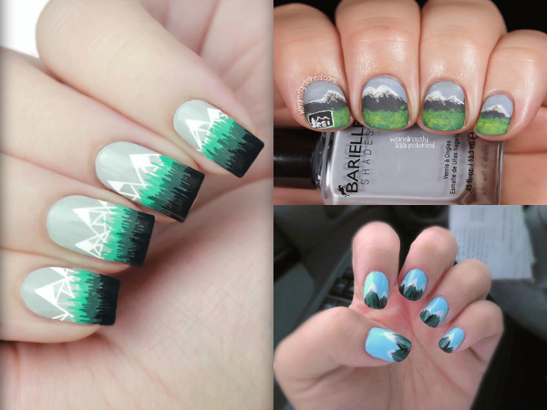 Nail Art Polish Mountain