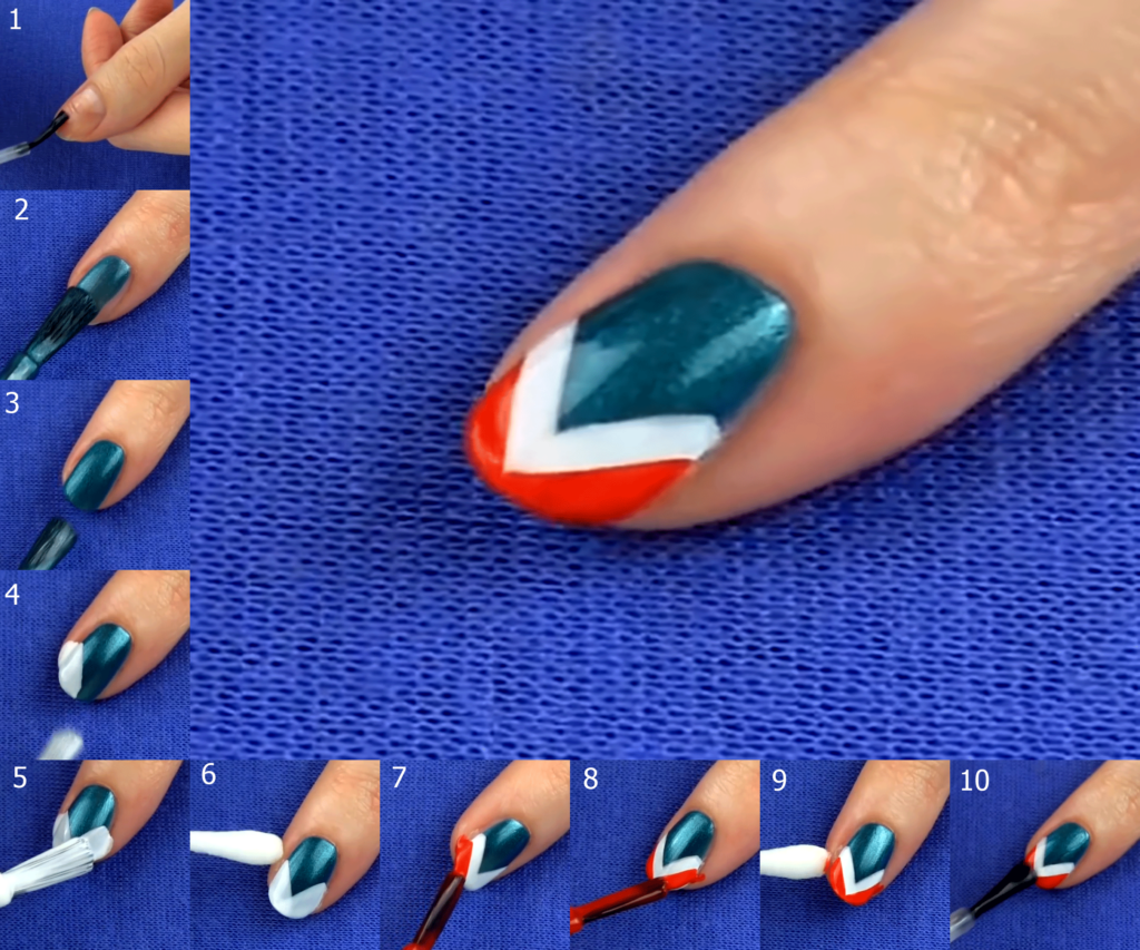 Manicure Tutorial 3 - The Wonder Woman