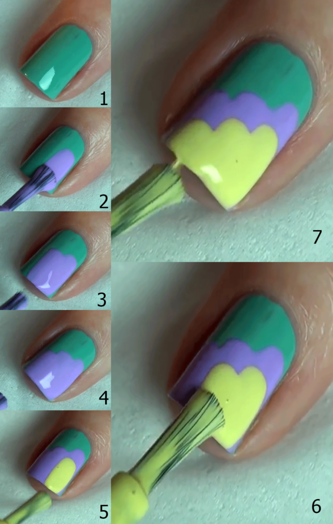 Credit: Manicure Tutorial 2 - Three steps Nail Design