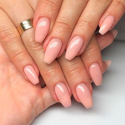 Amazing acrylic ballerina shaped nails