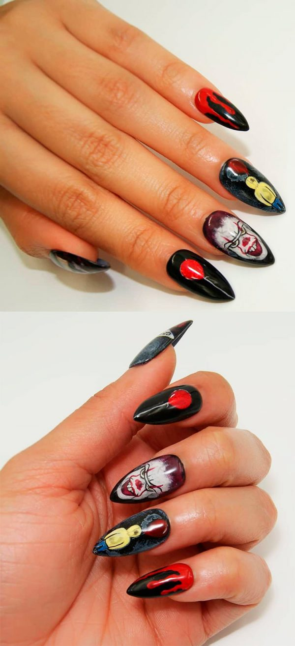 Almond Halloween Press On Nails