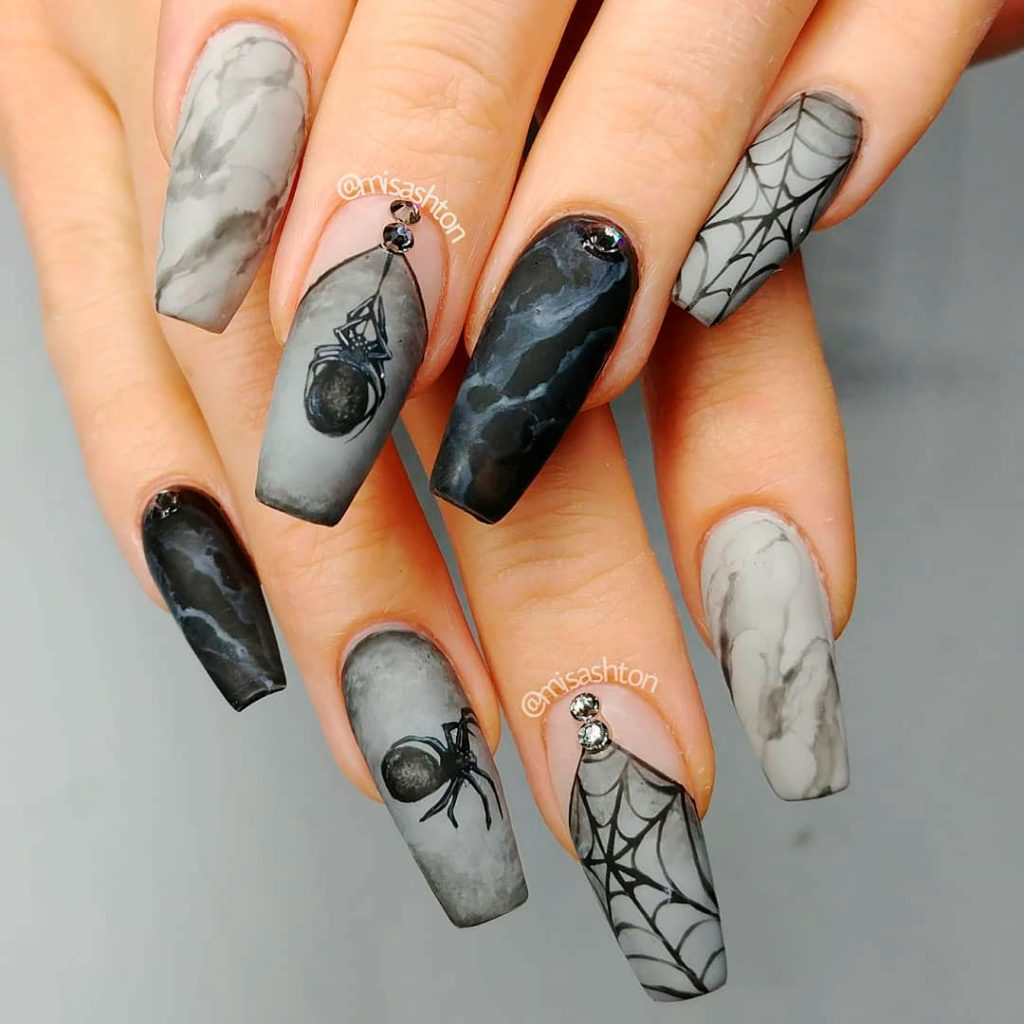 17+ Short Gel Nails For Halloween