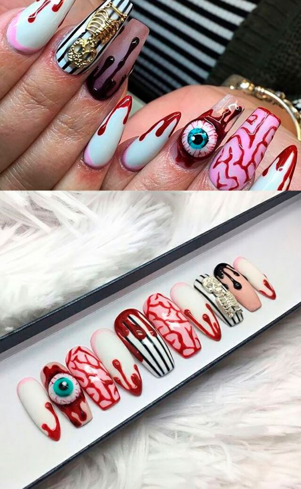 Creep Halloween Press On Nails!