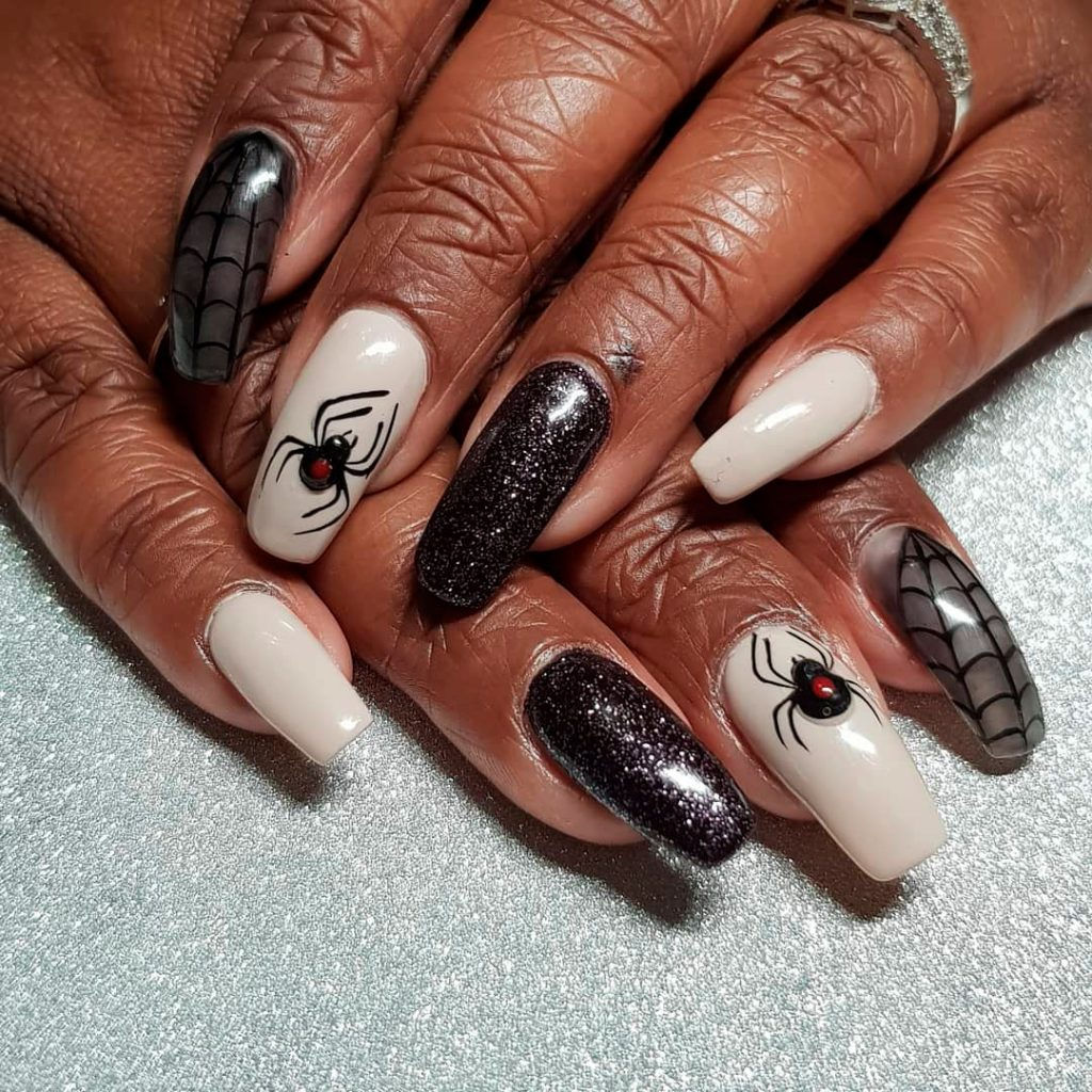 Stunning Halloween Spiderweb Nails