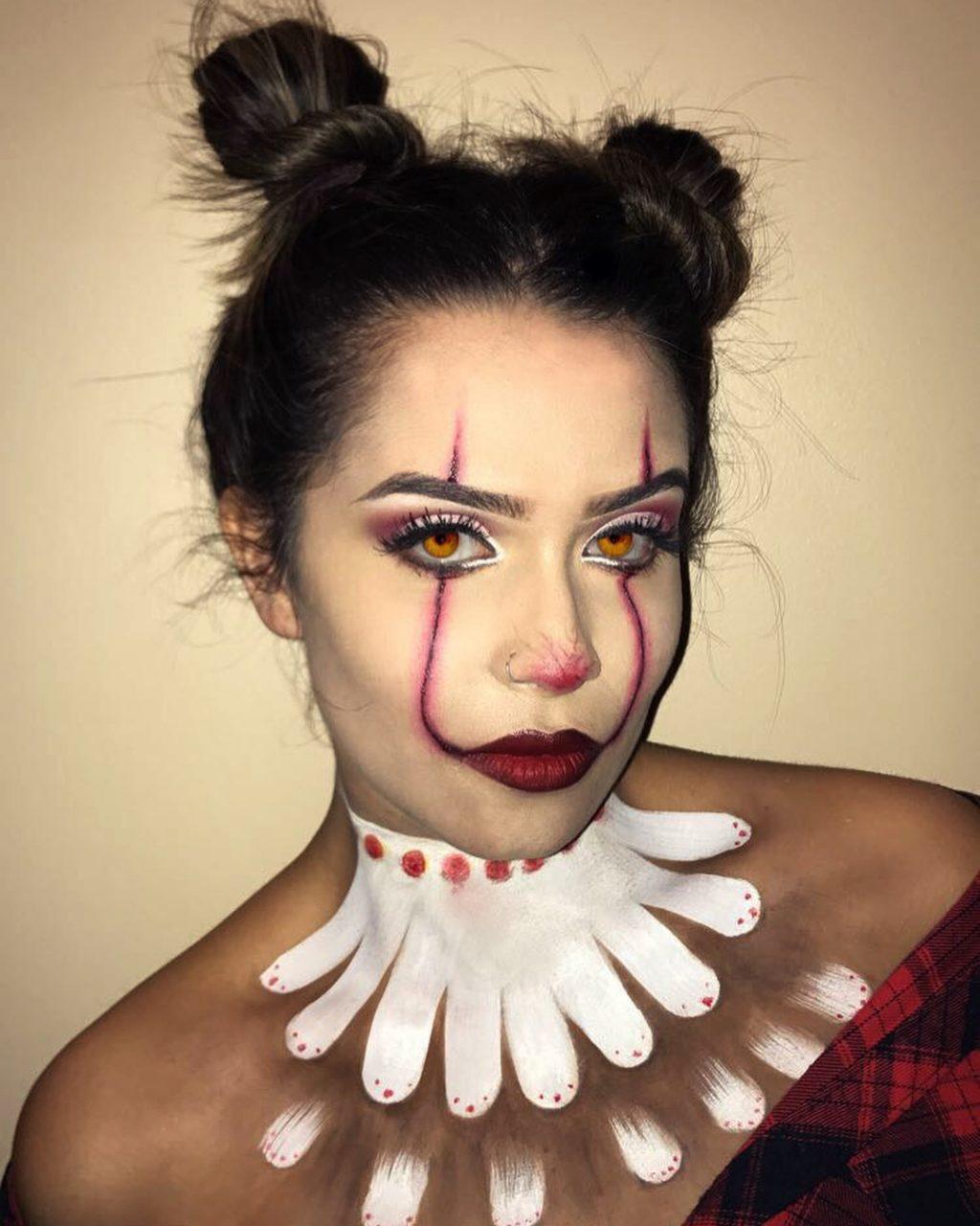 Creepy Clown Halloween Makeup Look!