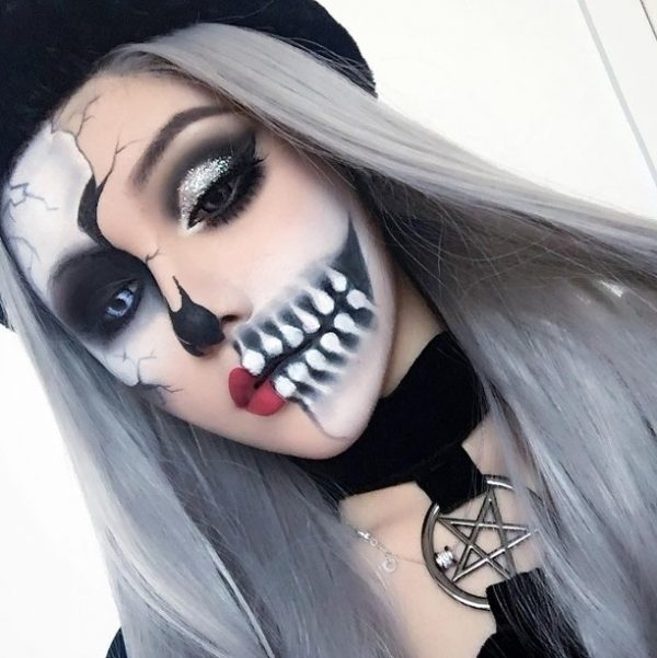 Creepy Scary Halloween Makeup.The Cutest And Creepy Halloween Makeup Ideas Stylish Belles