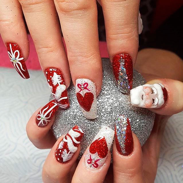 Christmas Nails Designs Coffin: The Best Coffin Nails Ideas That Suit Everyone