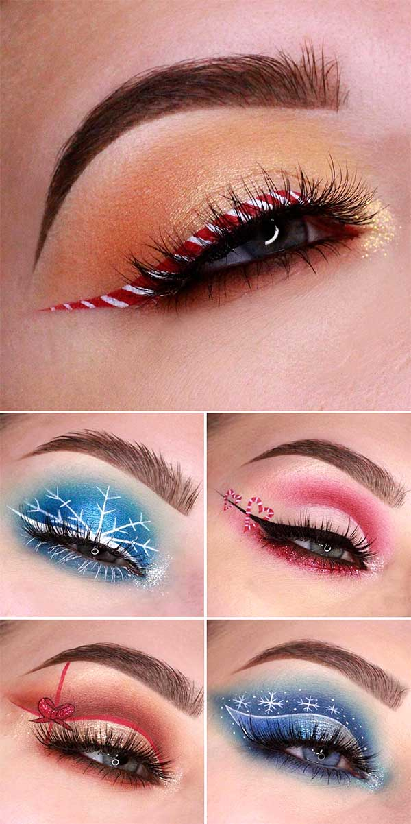 Christmas Makeup Looks , Latest Trends 2018