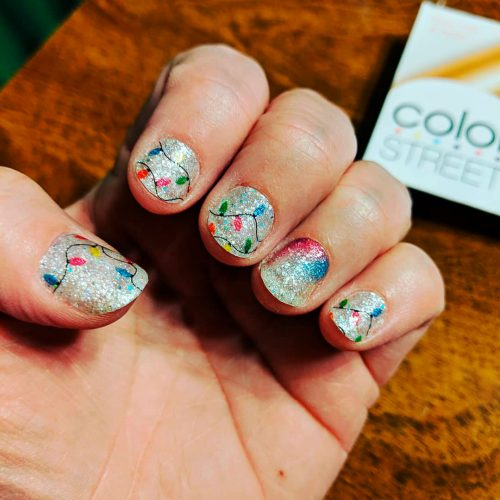 Color Street Shes Lit Christmas 2020 Nail Strips The Cutest and Festive Christmas Nail Designs for Celebration