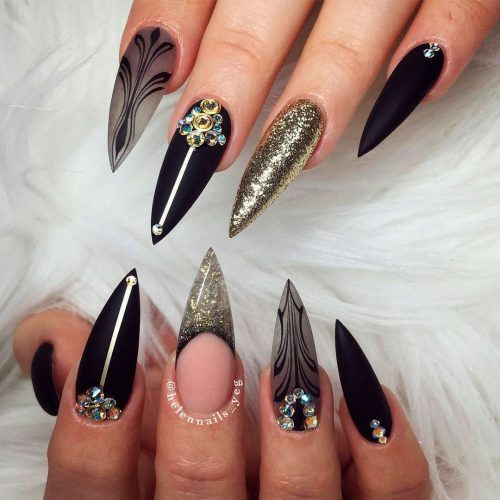 The Most Beautiful Black Winter Nails Ideas