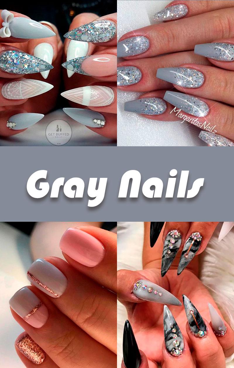 The Best Gray Nail Art Design Ideas