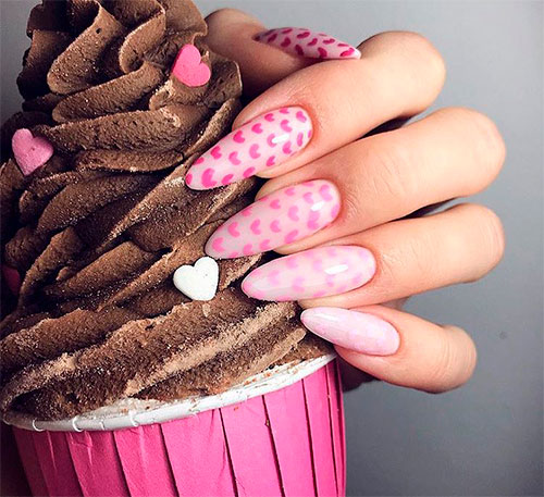 Cute Heart Nail Art Designs for Valentine's Day