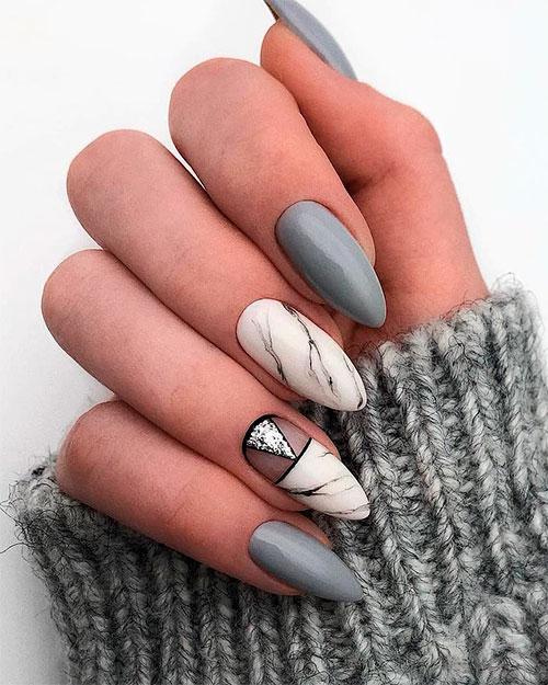The Best Gray Nail Art Design Ideas Stylish Belles