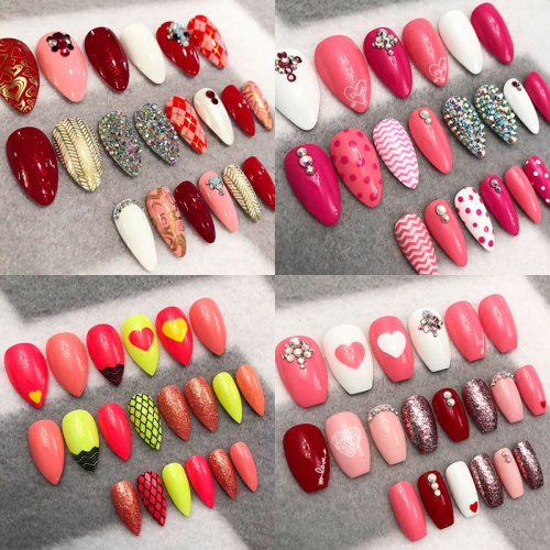 The Best Valentine\'s Day Nails Right Now!   Stylish Belles