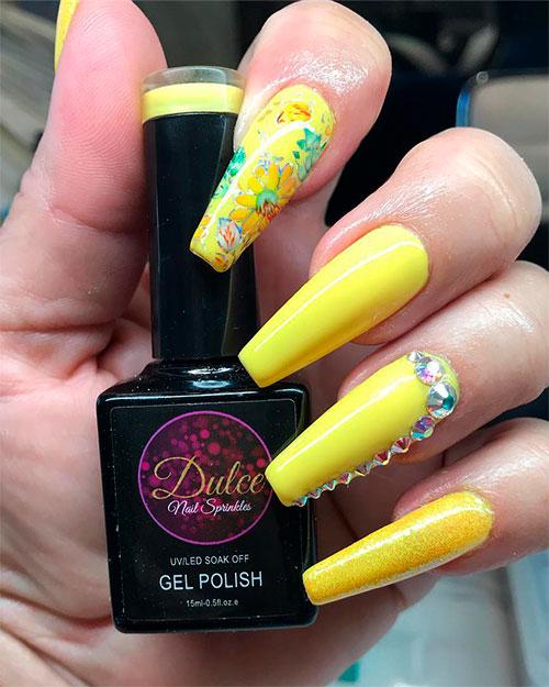 Best Yellow Nail Art Designs for Summer 2019