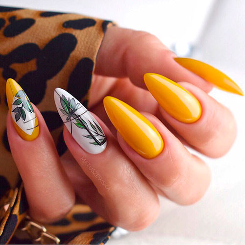 Best Yellow Nail Art Designs for Summer 2019