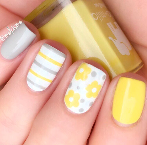 Best Yellow Nail Art Designs For Summer 2019 Stylish Belles