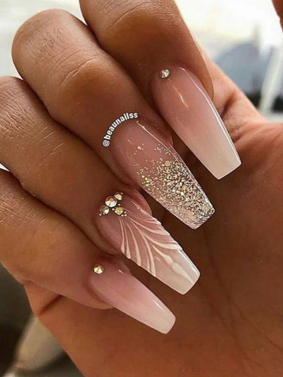 Ombre White And Burgundy Nails - Nail and Manicure Trends