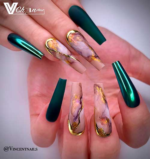Dark Green Nails Ideas to Consider for 2020