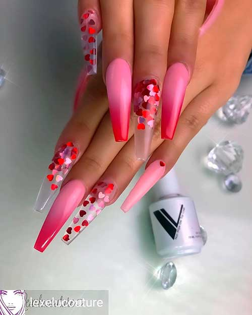 Hombre and Heart-ish Valentine's Day Nail Art 2020